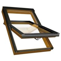Окно мансардное Fakro PTP-V/GO U3 золотой дуб 660x980 мм ручка снизу