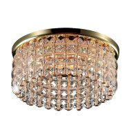 Светильник встраиваемый Novotech Pearl Round369442 NT09 187 золото/прозрачный GX5.3 50W 12V