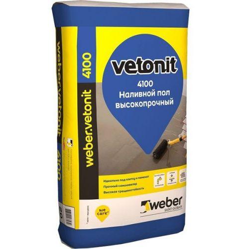 Пол наливной самовыравнивающийся Weber.Vetonit 4100 20 кг