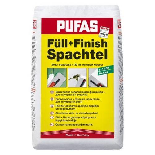Шпатлевка финишная гипсовая Pufas Full+Finish Spachtel 20 кг