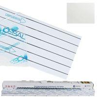 Комплект реечных потолков Cesal S-150 для ванной комнаты 1,7x1,7 м 3306 белый матовый