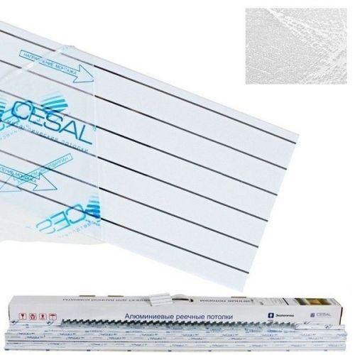 Комплект реечных потолков Cesal S-150 2,5х1 м B29 шелк белый