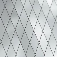 Стеновая панель Sibu Multistyle Silver Diagonal 15x15 2600х1000 мм самоклеящаяся
