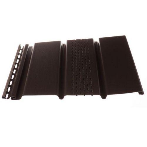Софит Docke Т4 Шоколад с центральной перфорацией 3050х305 мм виниловый