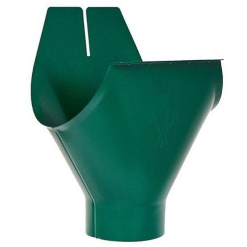 Воронка желоба Aquasystem D125/90 мм RAL 6005 зеленая
