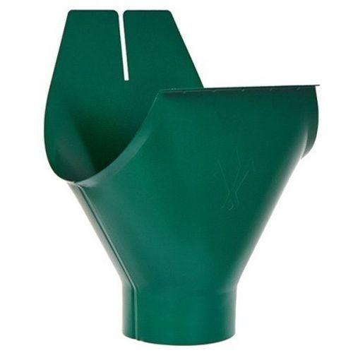 Воронка желоба Aquasystem D150/100 мм RAL 6005 зеленая