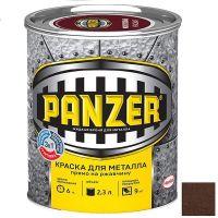 Краска для металла Panzer молотковая коричневая 2,3 л