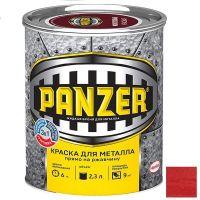 Краска для металла Panzer молотковая красная 2,3 л