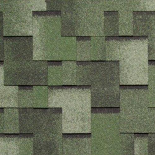 Черепица гибкая Tegola Nordland Альпин зеленая с отливом
