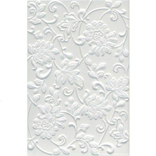 Плитка керамическая Kerama MarazziАджанта Цветы белая 8216 200х300 мм