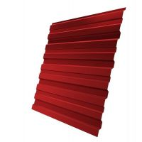 Профнастил С10 Grand Line Optima Pe 0,35 мм RAL 3003 рубиново-красный