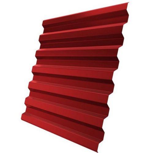 Профнастил С21 Grand Line Pe 0,5 мм RAL 3003 рубиново-красный