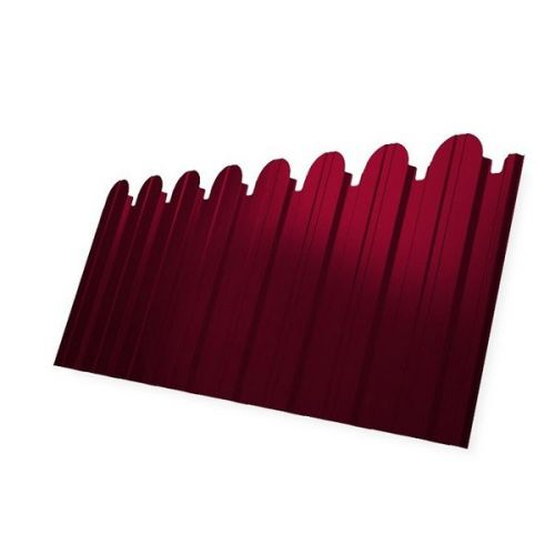 Профнастил С10 Grand Line Optima Satin 0,5 мм фигурный RAL 3003 рубиново-красный