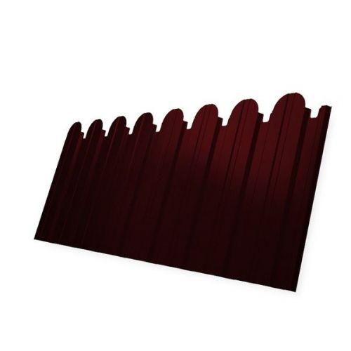 Профнастил С10 Grand Line Optima Satin 0,5 мм фигурный RAL 3005 винно-красный