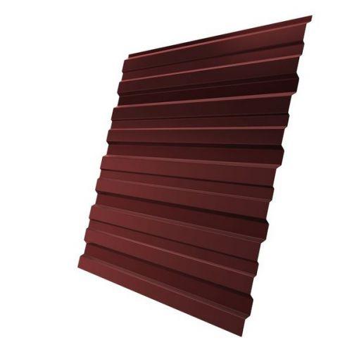 Профнастил С10 Grand Line Optima Pe 0,7 мм RAL 3009 оксид красный