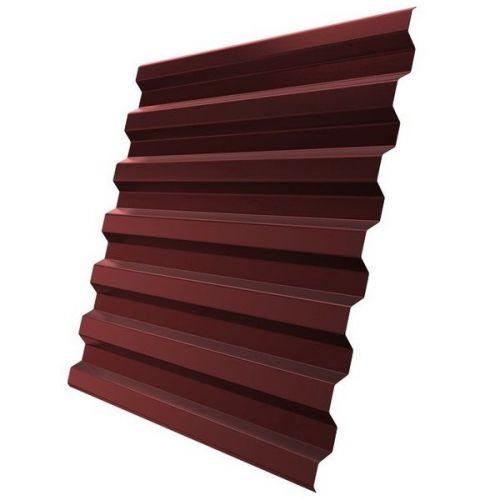 Профнастил С21 Grand Line Optima Pe 0,7 мм RAL 3009 оксид красный