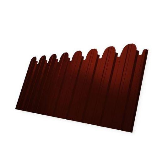 Профнастил С10 Grand Line Pe 0.5 мм RAL 3009 оксид красный фигурный
