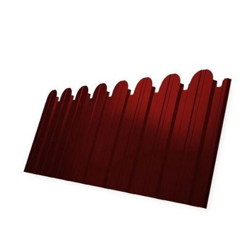 Профнастил С10 Grand Line Pe 0.5 мм RAL 3011 коричнево-красный фигурный