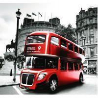 Фотообои виниловые на флизелиновой основе Decocode Лондонский автобус 31-0011-RR 3х2,8 м