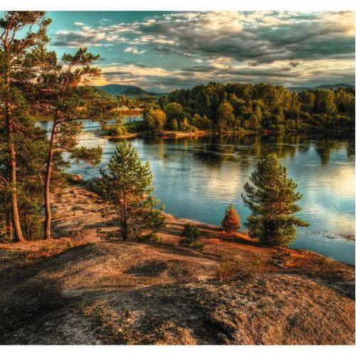Фотообои виниловые на флизелиновой основе Decocode Алтайский край 31-0258-PG 3х2,8 м