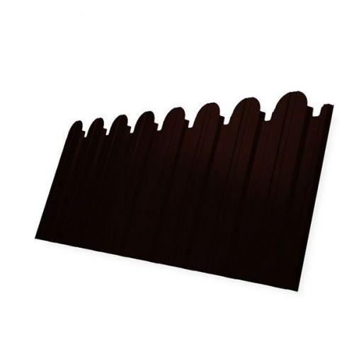 Профнастил С10 Grand Line Optima Satin 0,5 мм фигурный RR 32 темно-коричневый