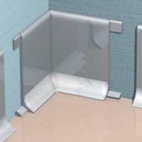 Угол внутренний для алюминиевого плинтуса Progress Plast RIBAA 60