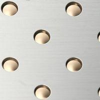 Стеновая панель Sibu Punch Line 3D HV 13-50-50 Silver Brushed Gold 2600х1000 мм