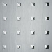 Стеновая панель Sibu Punch Line 3D Q-10-40-40 Silver Brushed Silver 2600х1000 мм