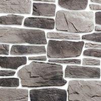 Искусственный камень KR Professional Альпийская деревня 08610 серый