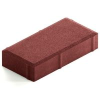 Брусчатка Steingot Лайт 40 из серого цемента с полным прокрасом прямоугольник красная 200х100х40 мм