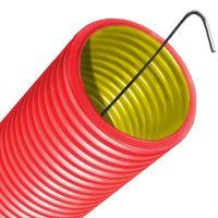 Труба ПНД гофрированная двустенная с протяжкой d90мм ДКС 121990