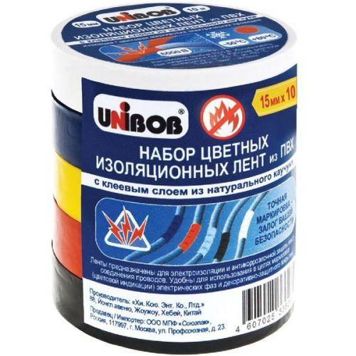 Набор клейких лент Unibob 43657 электроизоляционных 10000х15 мм