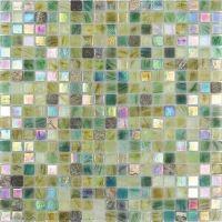 Мозаика из стекла и натурального камня Alma Amber AM503