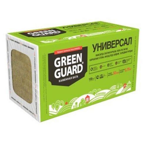 Базальтовая вата Greenguard Универсал 1200х600х50 мм 8 штук в упаковке