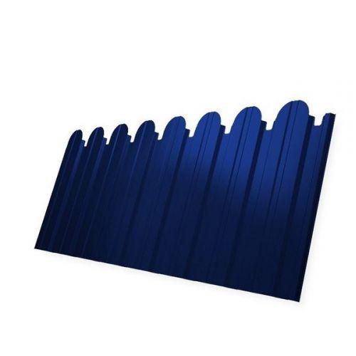 Профнастил С10 Grand Line Pe 0.5 мм RAL 5002 ультрамариново-синий фигурный