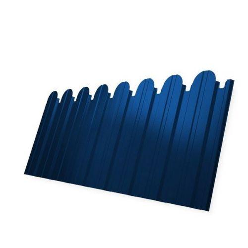 Профнастил С10 Grand Line Optima Pe 0,45 мм RAL 5005 сигнальный синий фигурный