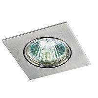 Светильник встраиваемый поворотный Novotech Quadro 369106 NT09 277 никель GX5.3 50W 12V