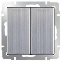 Механизм выключателя Werkel WL02-SW-2G-2W двухклавишный проходной глянцевый никель