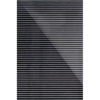 Дизайнерская 3D панель из стекла Artpole Vertical черный 200х300 мм