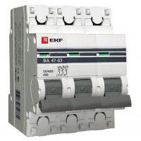 Автоматический выключатель EKF Proxima ВА 47-63 3P 4,5 кА 16А С