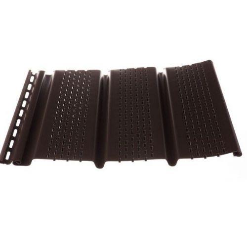 Софит Docke Т4 Шоколад с полной перфорацией 3050х305 мм виниловый