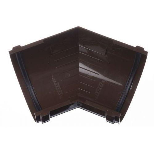 Угол желоба Docke ПВХ D120/85 мм универсальный 135 градусов RAL 8017 Шоколад