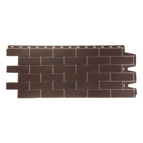Панель фасадная Docke Berg Braunberg Кирпич коричневый 1127х461 мм