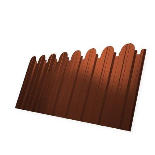 Профнастил С10 Grand Line Optima Pe 0,45 мм RAL 8004 медно-коричневый фигурный