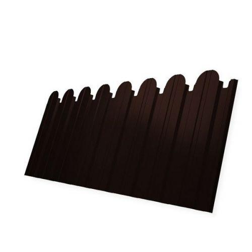 Профнастил С10 Grand Line Pe 0.5 мм RAL 8017 шоколадно-коричневый фигурный