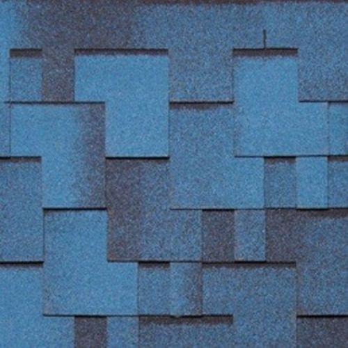 Черепица гибкая Tegola Nordland Альпин синяя с отливом