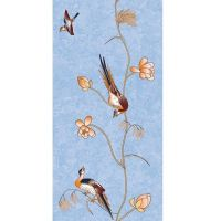 Стеновая панель ПВХ Апласт Цветы Азии 9005/3 Райские птицы 2700х250 мм