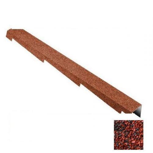 Планка торцевая Metrotile красно-черная правая