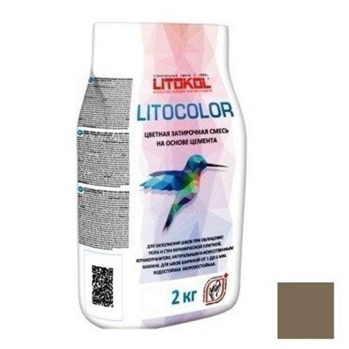 Смесь затирочная цементная для швов Litokol Litocolor L.12 темно-серая 2 кг