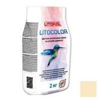 Смесь затирочная цементная для швов Litokol Litocolor L.21 светло-бежевая 2 кг